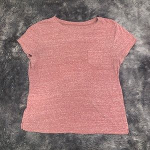 Faded rustic red tank top with pocket. Slight crop
